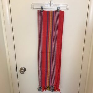 Cotton and Linen Colorful Stripe Scarf